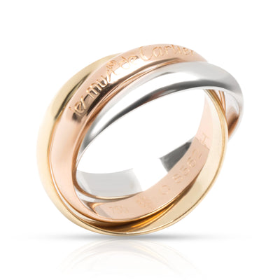 Cartier Trinity Ring in Yellow, White & Rose Gold (Size 53)