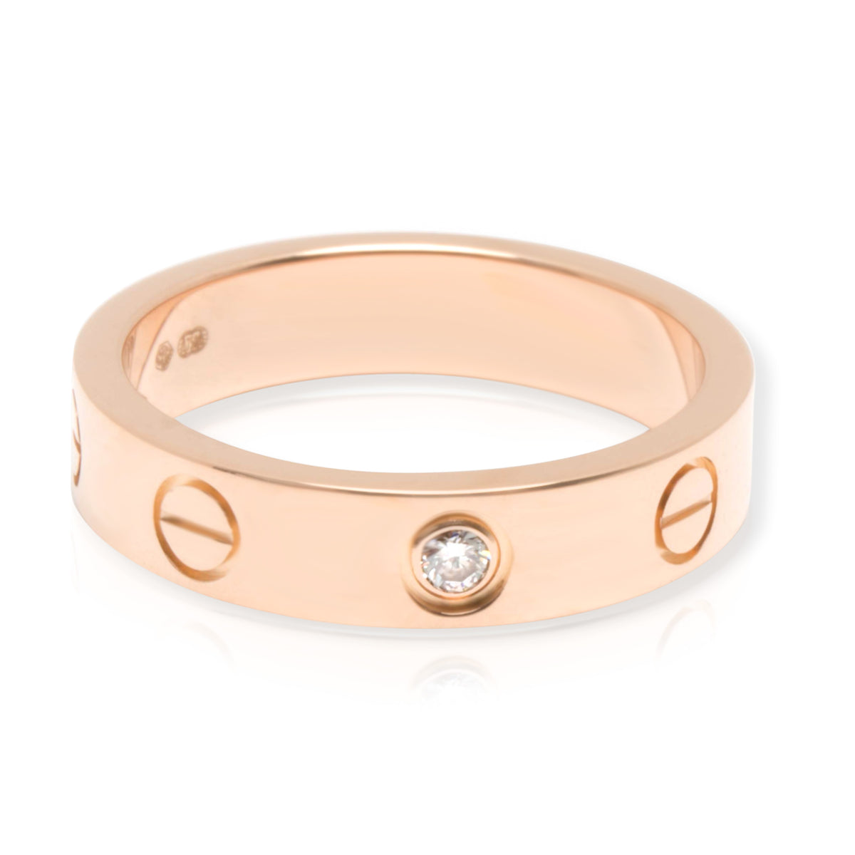 Cartier Love Diamond Wedding Band in 18KT Rose Gold 0.02ct (Size 48)