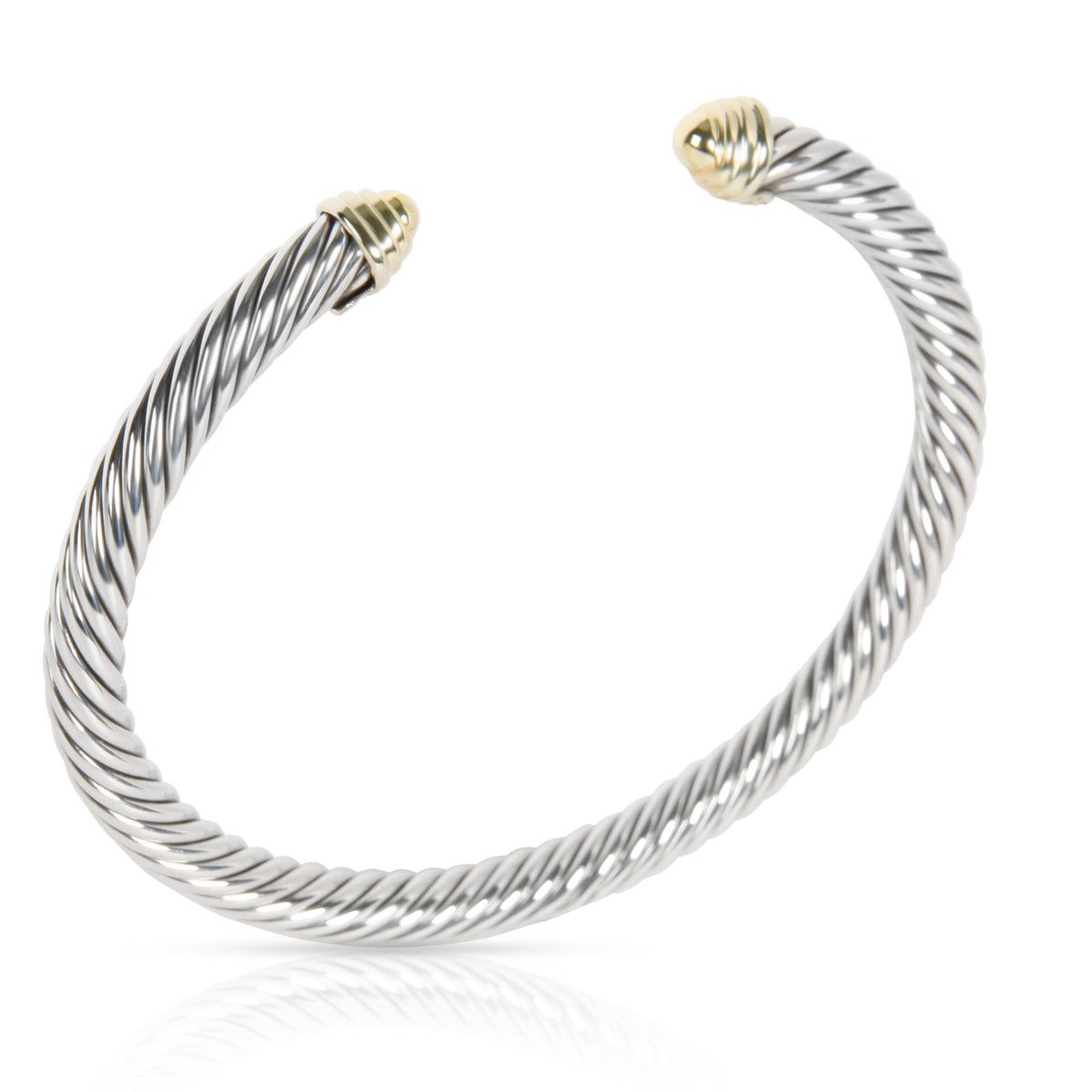 David Yurman Cable Classics Bangle in 14K Yellow Gold & Sterling Silver (5 mm)
