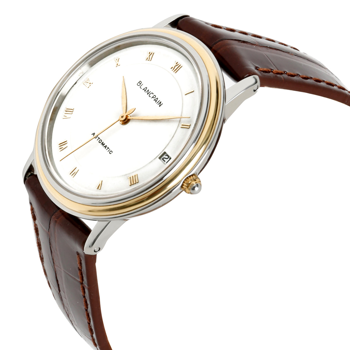 Blancpain Villeret 0095-1318 Men's Watch in 18kt Stainless Steel & Yellow Gold