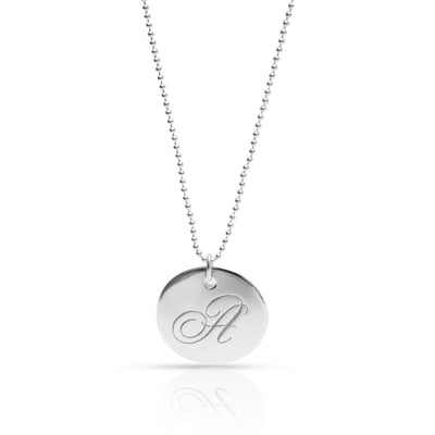 Tiffany & Co. Alphabet Disc Charm Necklace in Sterling Silver