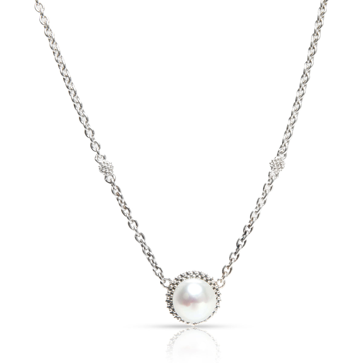 Lagos Luna Pearl Necklace with Caviar Beads in  Sterling Silver