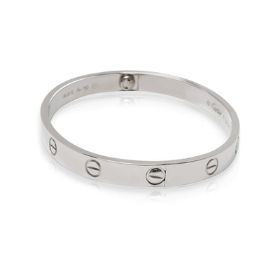 Cartier Love Bracelet in 18K White Gold (Size 17)