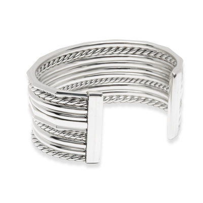 David Yurman Stax Diamond Bangle in  Sterling Silver 0.63 CTW