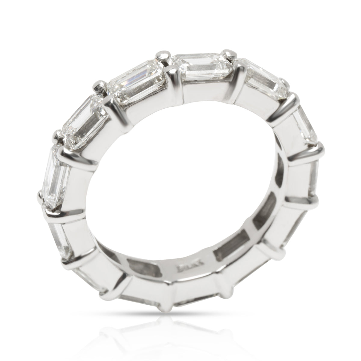 Emerald Cut Diamond Eternity Band in Platinum (6 CTW)