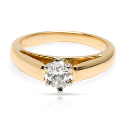 Blue Nile Diamond Solitaire Engagement Ring in 18K Yellow Gold (0.31 CTW F/VS1)