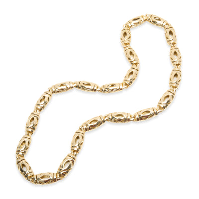 Cartier Vintage Double C Necklace in 18KT Yellow Gold
