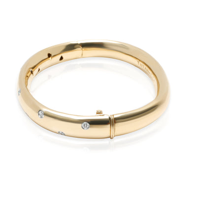 Tiffany & Co. Etiole Diamond Bangle in 18K Yellow Gold/Platinum 0.43 CTW