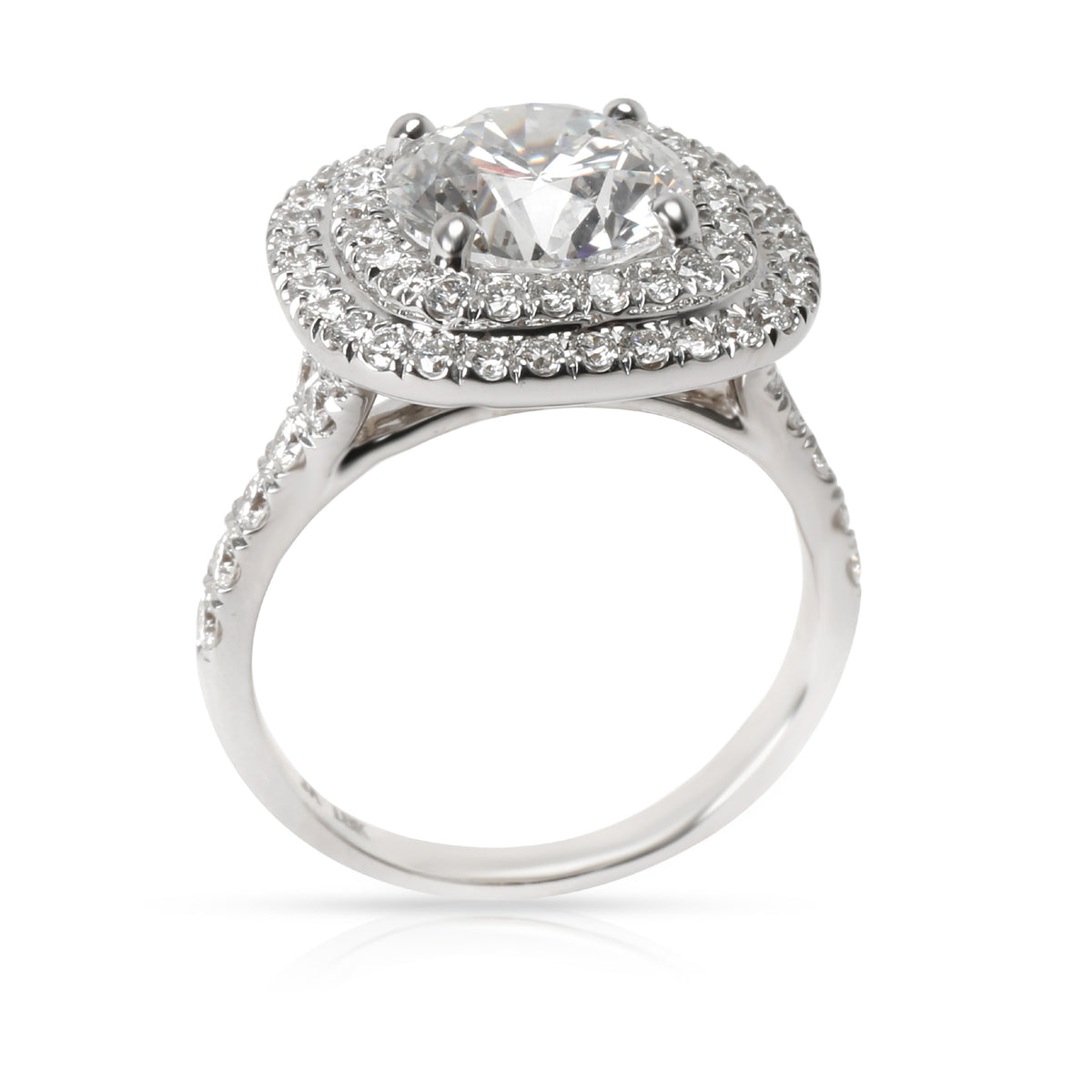James Allen Diamond Double Halo Engagement Ring in 18K White Gold 1.91 ct E/SI2