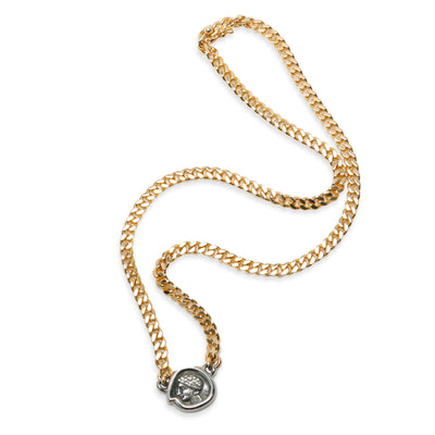 Bvlgari Monete Gallia Ancient Coin Necklace in 18KT Yellow Gold