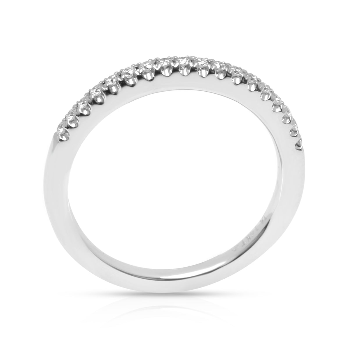 James Allen Diamond Wedding Band in 14K White Gold 0.11 CTW