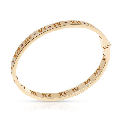 Tiffany & Co. Pierced Atlas Ruby Bangle in 18K Yellow Gold