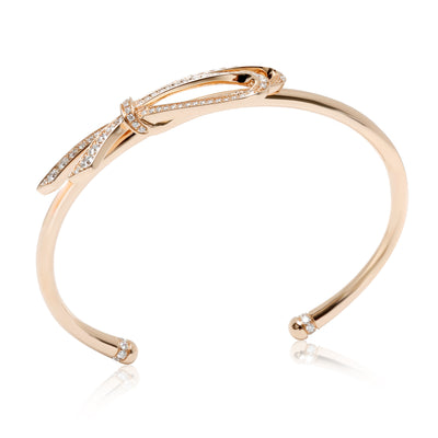 Tiffany & Co. Diamond Bow Cuff in 18K Rose Gold 0.82 CTW