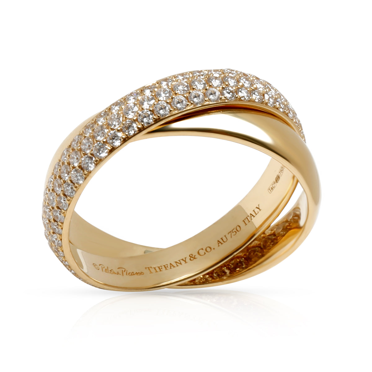 Tiffany & Co. Paloma Picasso Melody Diamond Ring in 18K Yellow Gold 0.85 CTW