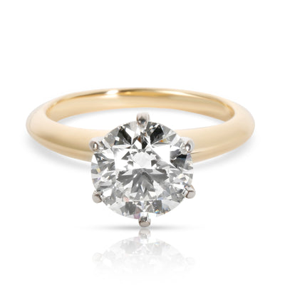 Tiffany & Co. Diamond Engagement Ring in 18K Yellow Gold/Platinum H VS1 2.02 CTW