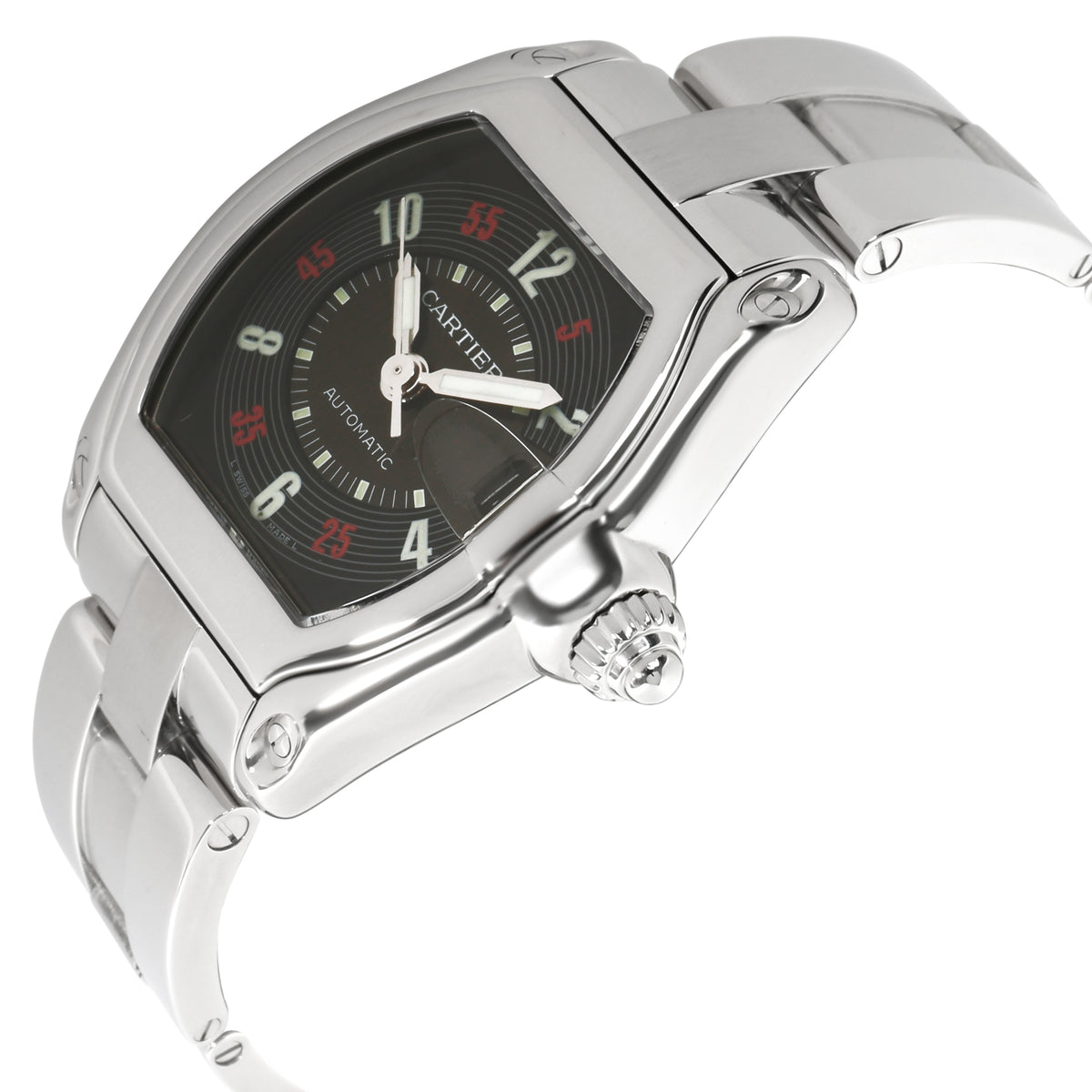 Cartier Roadster W62002V3 Men's Watch in  Stainless Steel