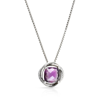 David Yurman Amethyst Infinity Necklace in Sterling Silver