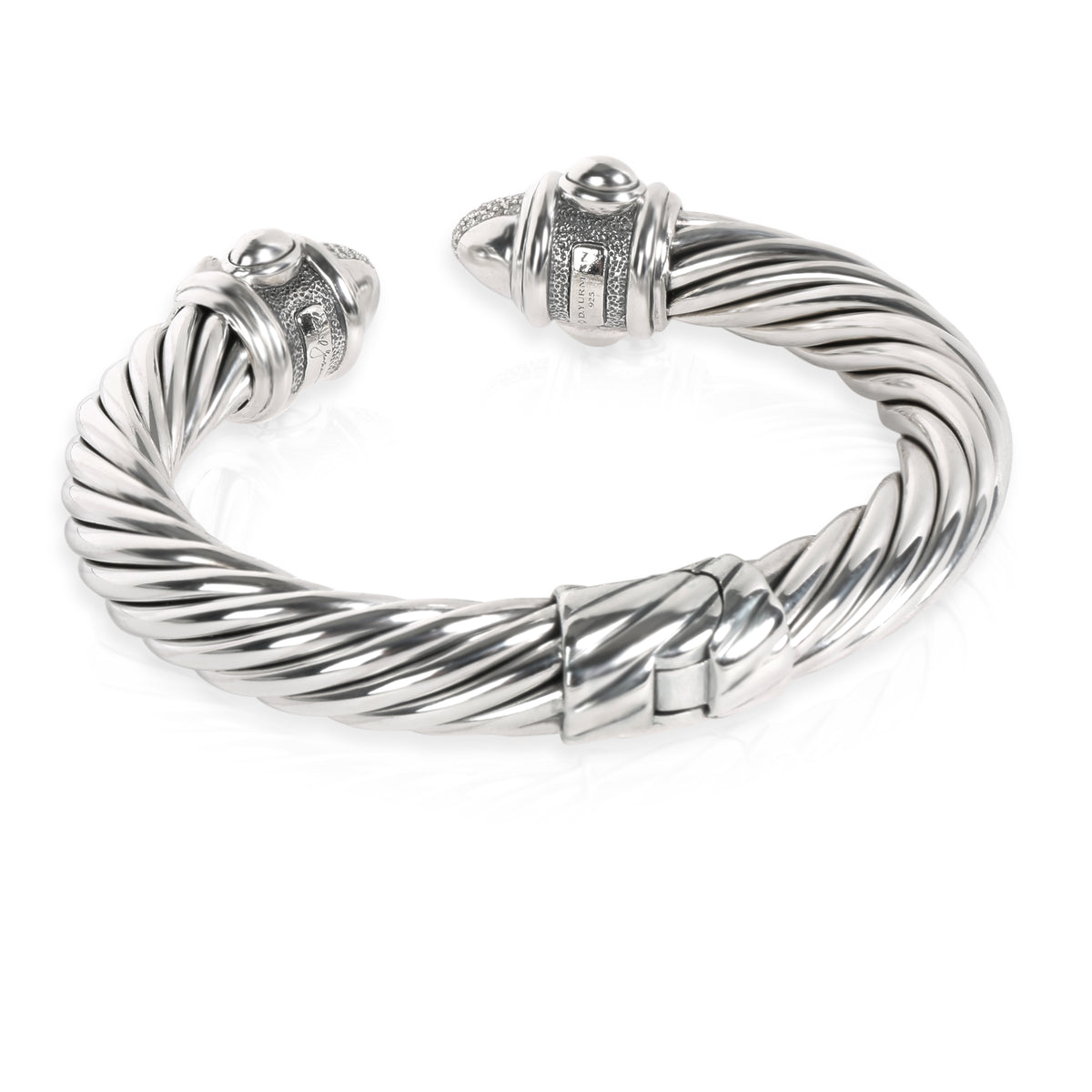 David Yurman Renaissance Cable Collection Diamond Cuff in  Sterling Silver 0.88