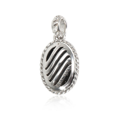 David Yurman Midnight Melange Diamond Pendant in  Sterling Silver 0.74 CTW