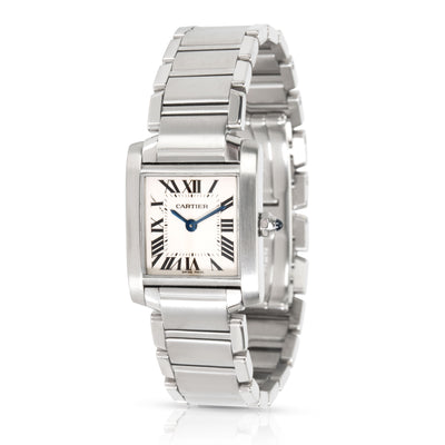 Cartier Tank Francaise W51008Q3 Women's Watch in  Stainless Steel