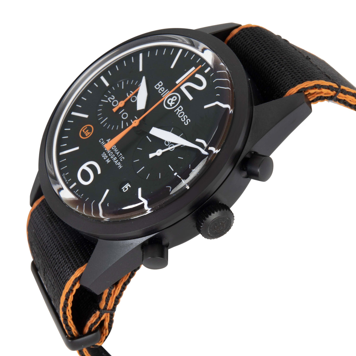 Bell & Ross Carbon Orange BRV126-O-CA Men's Watch in  PVD