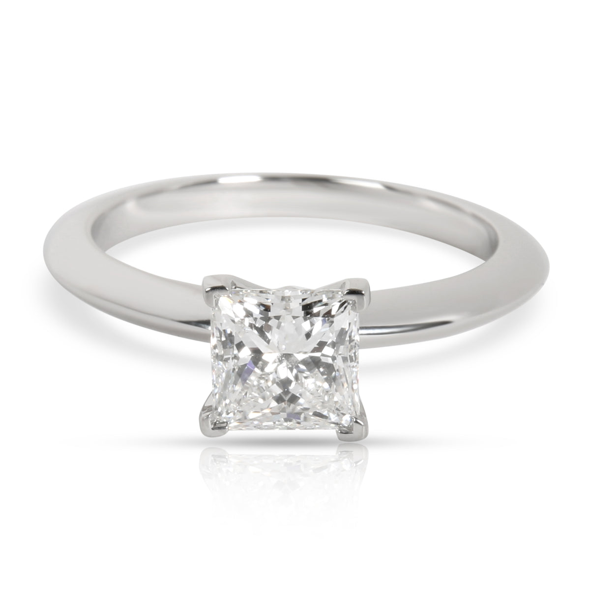 Tiffany & Co. Solitaire Diamond Engagement Ring in Platinum E VVS1 0.97 CTW