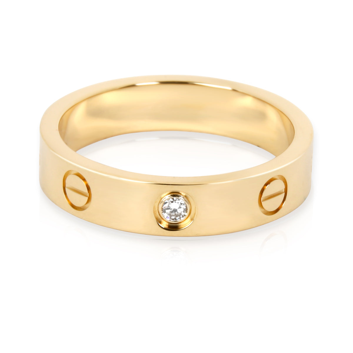 Cartier Love Diamond Ring in 18KT Yellow Gold 0.02 CTW