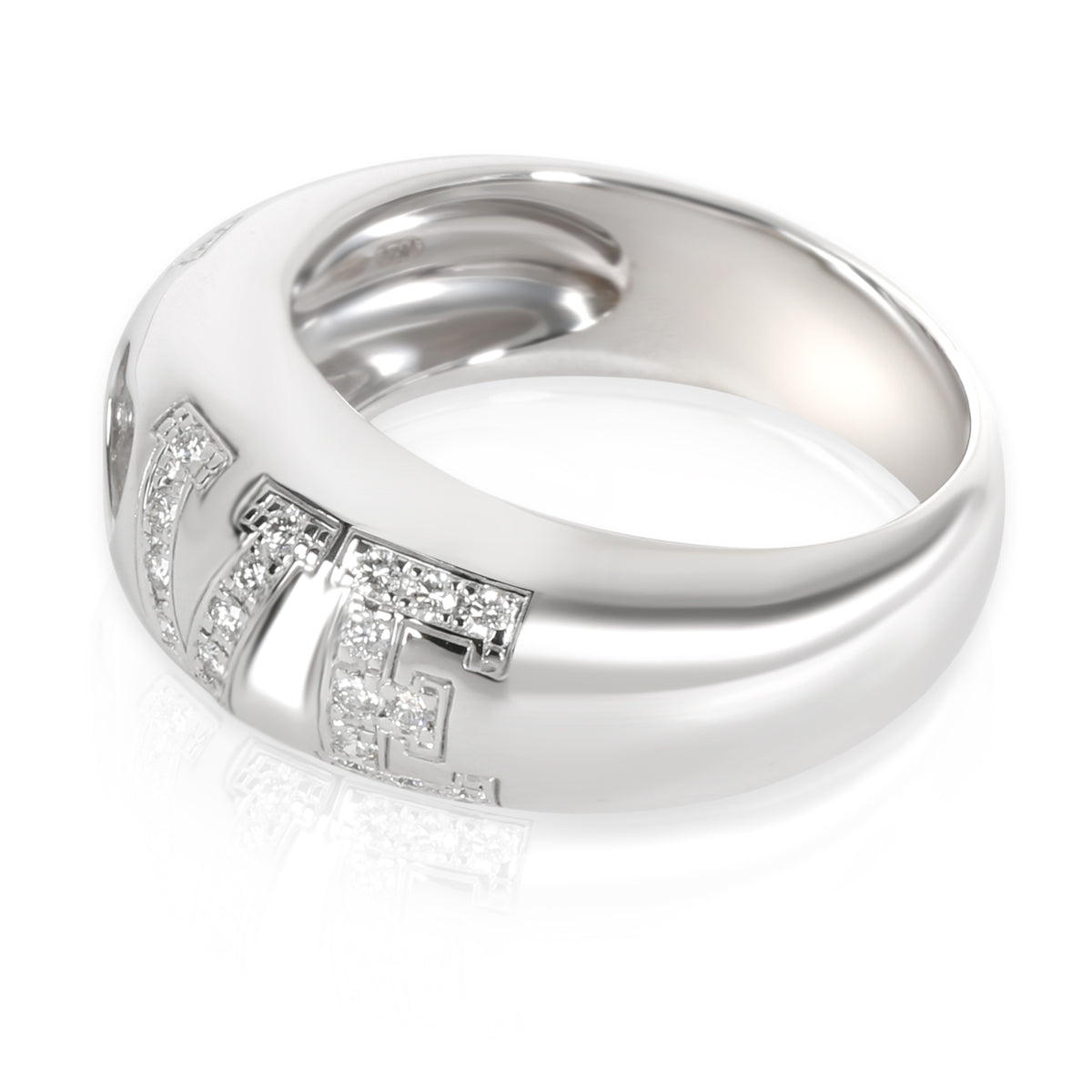 Chopard Happy Diamonds Domed Love Ring in 18KT White Gold 0.33 CTW