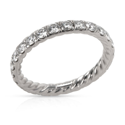 David Yurman Eden Single Row Diamond Eternity Band in Platinum 1.13 CTW