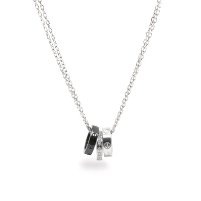 Cartier Love Diamond Necklace in 18K White Gold