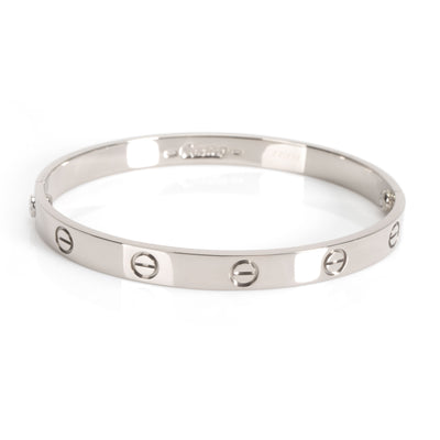 Cartier Love Bangle in 18K White Gold size 18