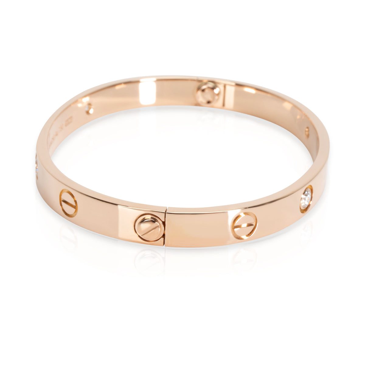Cartier Diamond Love Bracelet in 18K Pink Gold (Size 16)
