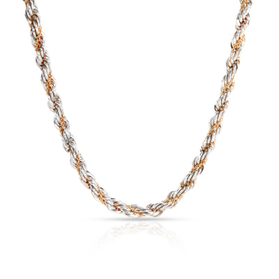 Tiffany & Co. Necklace Twisted Rope Necklace in 18K Yellow Gold & Silver