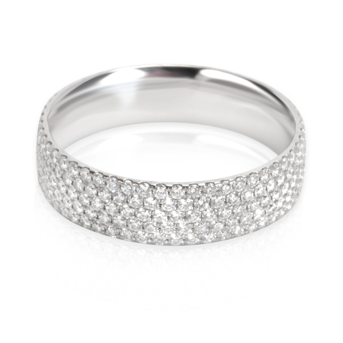 Tiffany & Co. Metro Five Row Diamond Ring in 18K White Gold 0.90 ctw