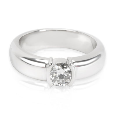 Tiffany & Co. Etoile Oval Diamond Engagement Ring in Platinum (0.56 ct H/VS1)