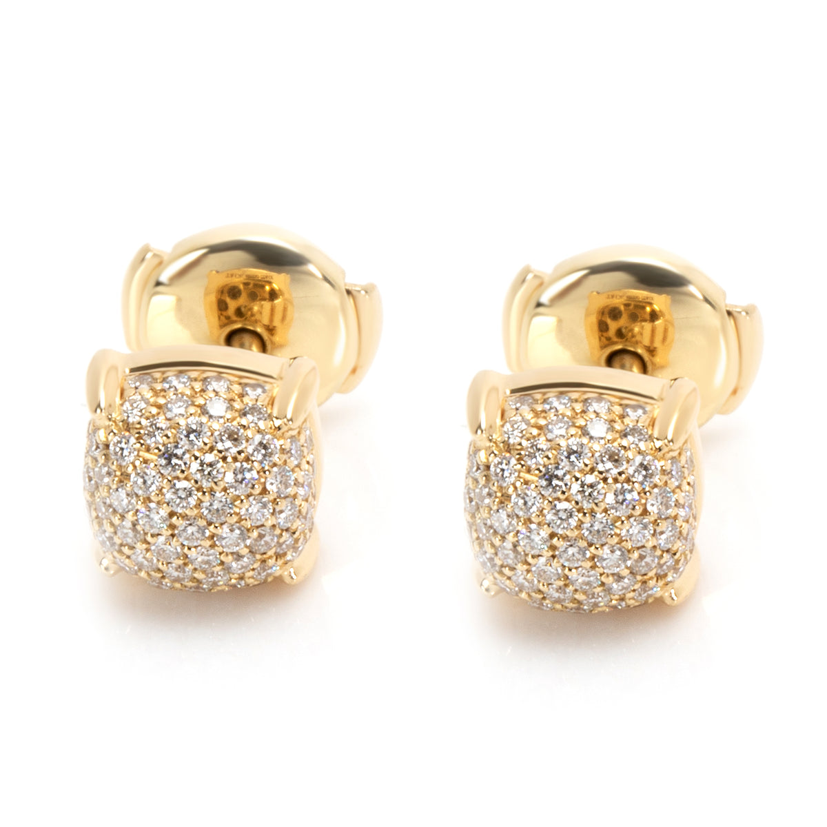 Tiffany & Co. Paloma Picasso Sugar Stacks Diamond Earrings in 18K Yellow Gold