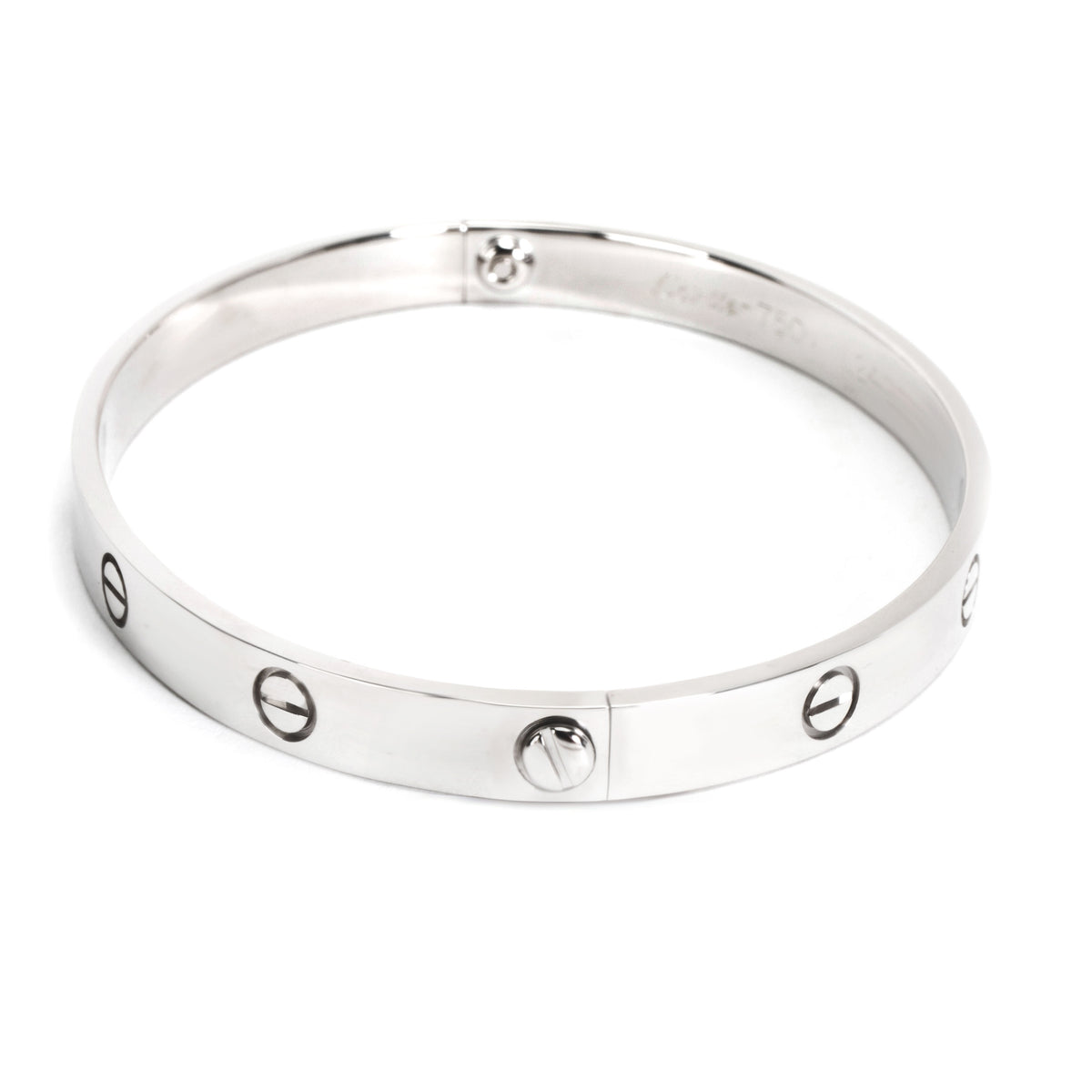 Cartier Love Bracelet in 18K White Gold (Size 20)