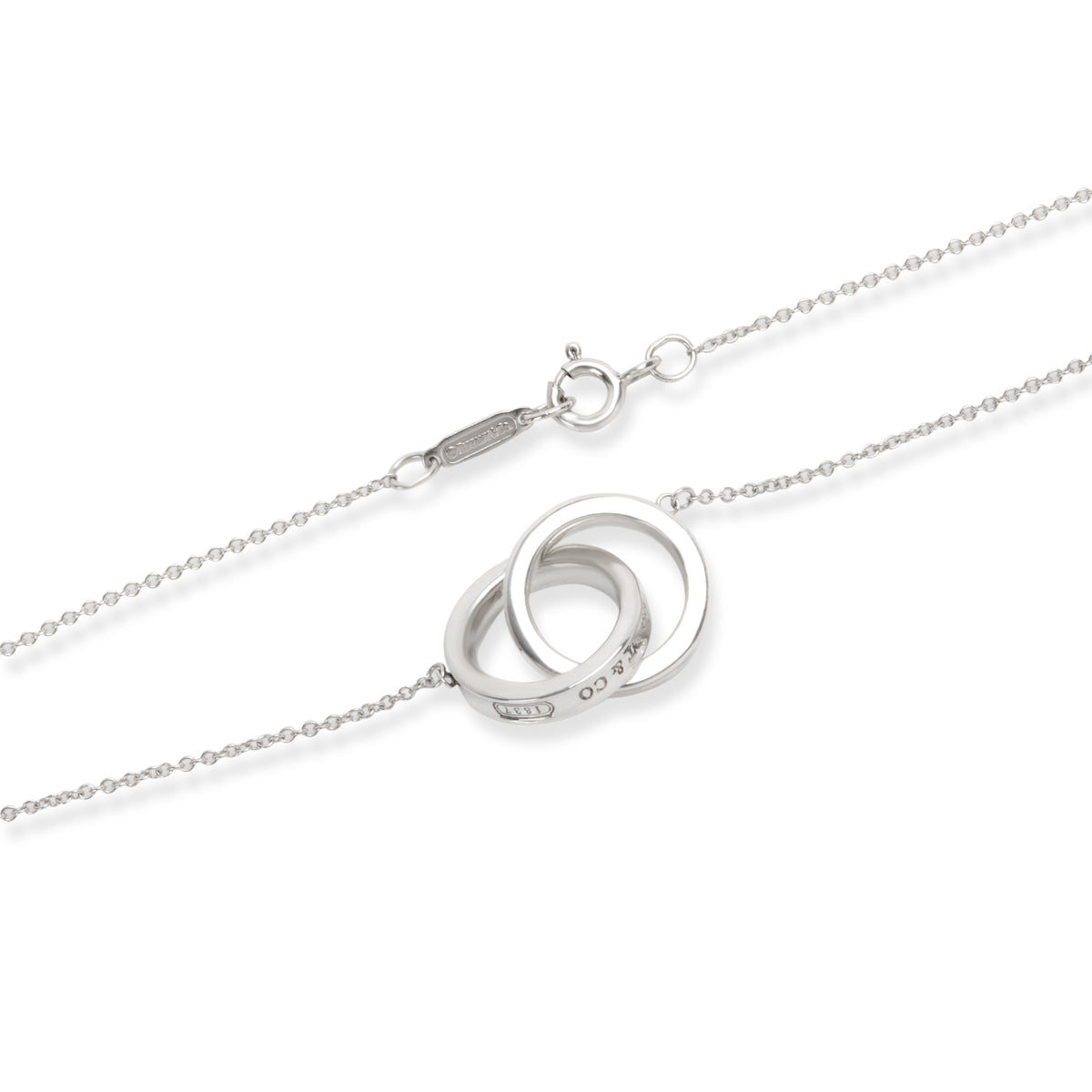 Tiffany & Co. 1837 Interlocking Circles Necklace in Sterling Silver