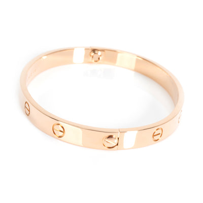Cartier Love Bangle in 18K Rose Gold Size 18