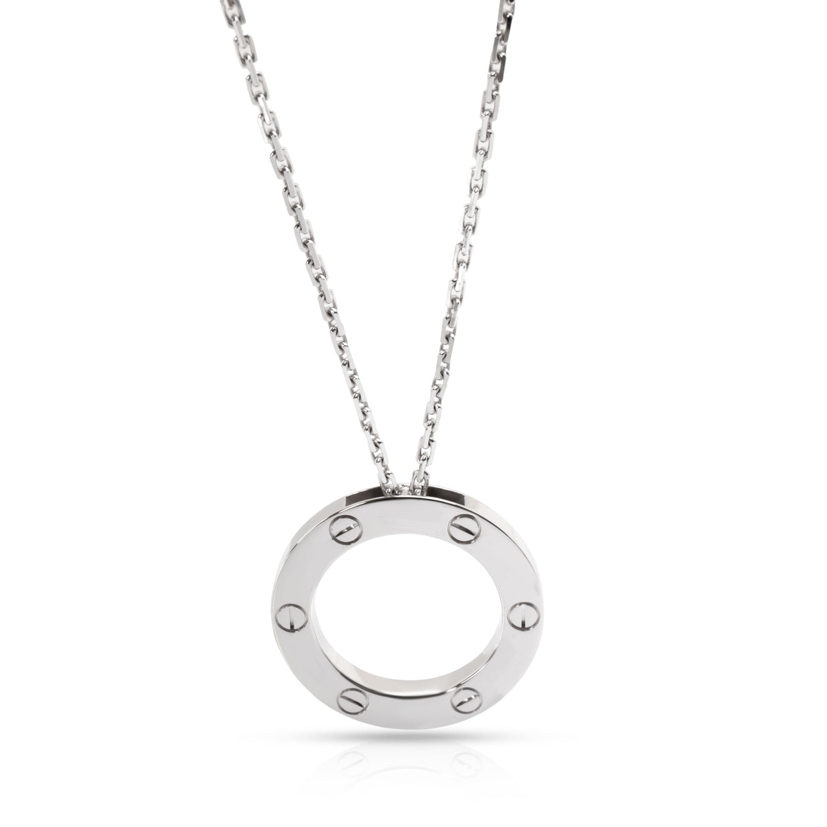 Cartier Love Necklace in 18K White Gold
