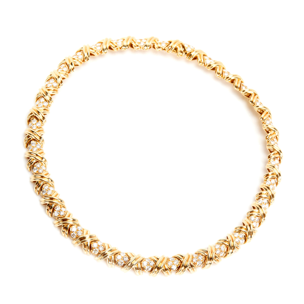 Tiffany & Co. X Collection Diamond Necklace in 18K Yellow Gold (8.28 CTW)