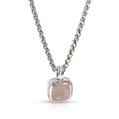 David Yurman Albion Chalcedony & Diamond Necklace in Sterling Silver
