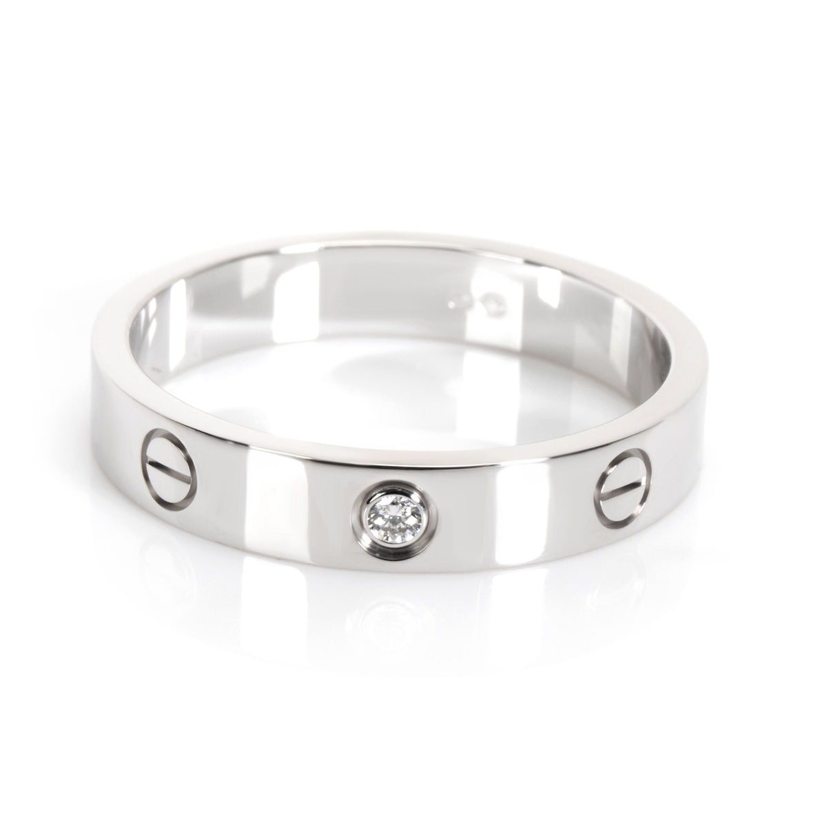 Cartier Love Diamond Band in 18K White Gold 0.01 CTW