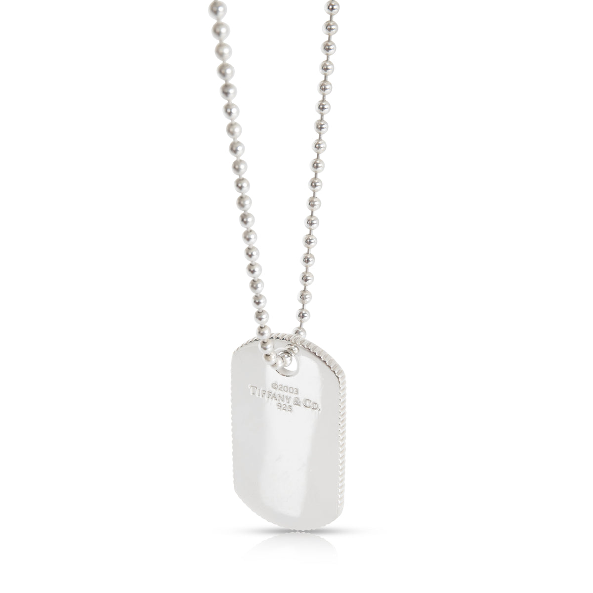 Tiffany & Co. Dog Tag Necklace in  Sterling Silver