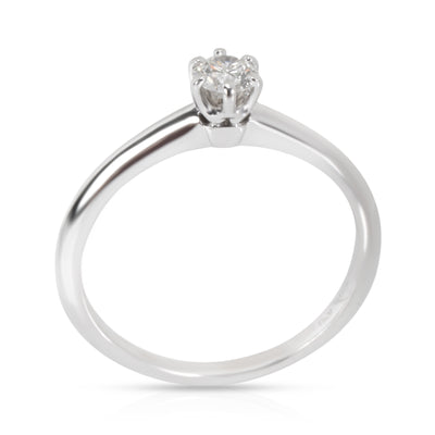 Tiffany & Co. Solitaire Diamond Engagement Ring in  Platinum (0.21 ct F/VS1)