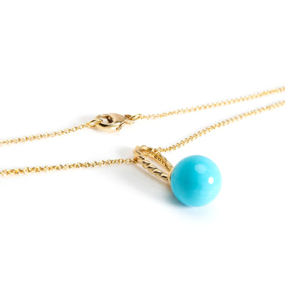David Yurman Solari Turquoise Necklace in 18K Yellow Gold