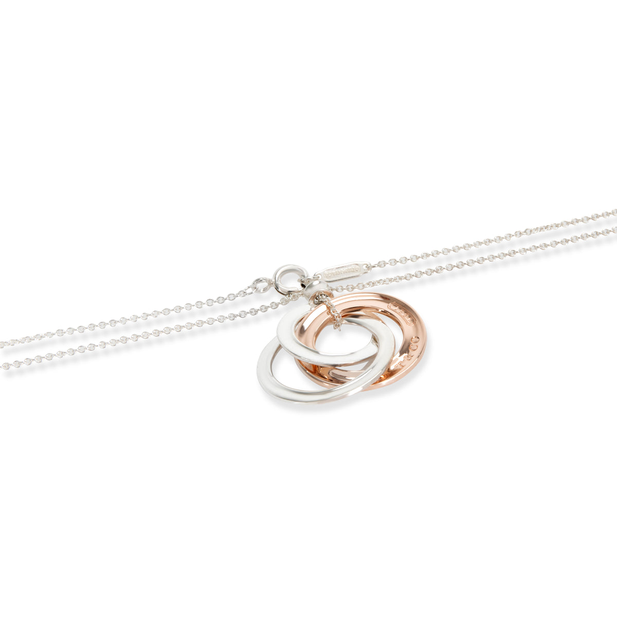 Tiffany & Co. 1837 Circle Necklace in  Rubedo & Sterling Silver