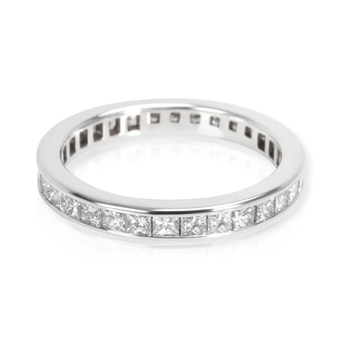 Tiffany & Co Channel Princess Diamond Eternity Wedding Band in Platinum 1.00ctw