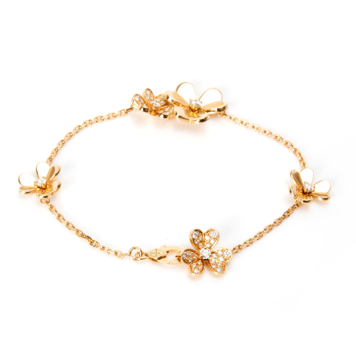 Van Cleef & Arpels Frivole Diamond Bracelet in  Yellow Gold 0.61 CTW