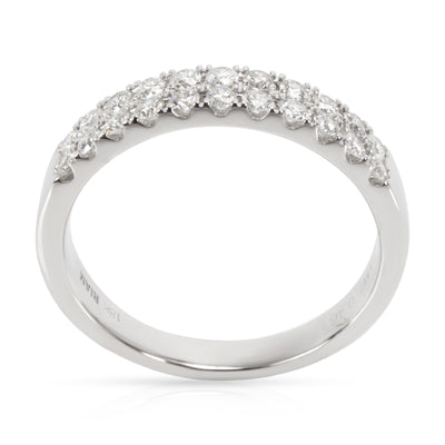 Two Row Diamond Ring in 18K White Gold 0.46 CTW